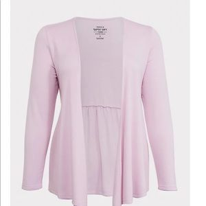 Nwt Torrid size 00 pink soft fleece open cardigan